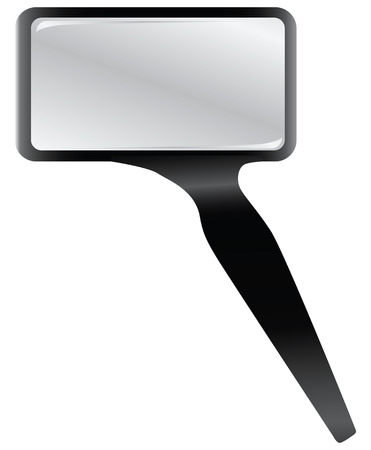 Rectangular magnifying glass in plastic frame. Vector illustration. Ilustrace