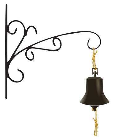 door bell: Door bell as a Marine Rynda. Vector illustration.