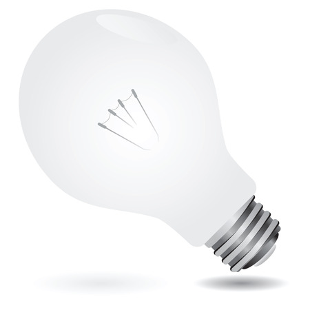 socle: New matte bulb with entire filament. Vector illustration.