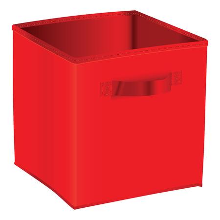 red cube: Red cubo di stoccaggio in casa e in magazzino. Illustrazione vettoriale.