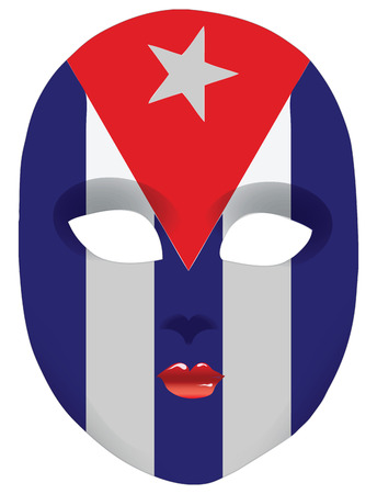 statehood: Classic mask with symbols of statehood of Cuba. Vector illustration Illustration