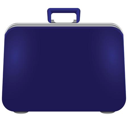Blue road suitcase of plastic. illustration. 向量圖像