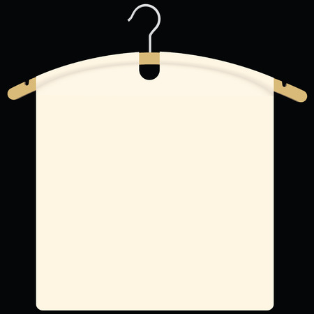 image size: Fabric on garment hanger as background for design. Vector illustration.