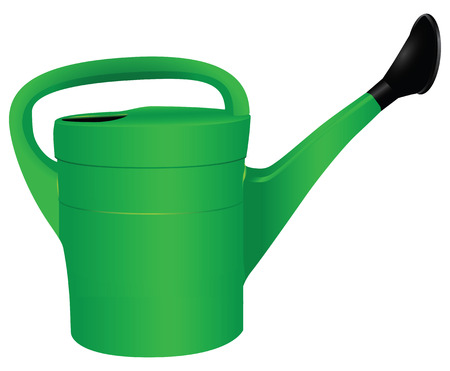 Plastic garden watering for private sites. Vector illustration.