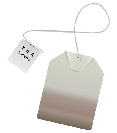 ea brew in a bag for a single tea. Vector illustration. Illustration