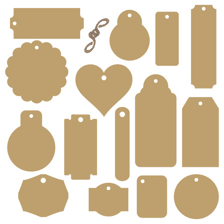 Big set of industrial kraft paper labels. Vector illustration. Illusztráció