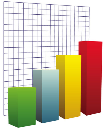 Chart with grid coordinates to illustrate the performance. Vector illustration.