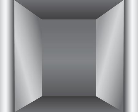 niche: Architectural element of the interior - a narrow niche. Vector illustration.