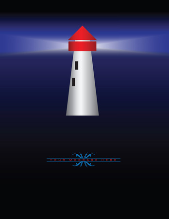 Abstract illustration of a lighthouse for graphic design. illustration. Vector