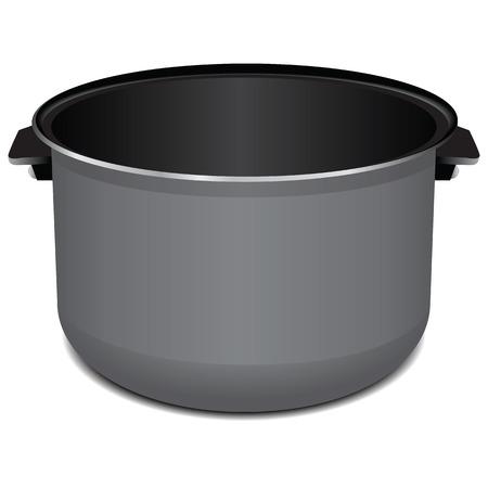 steam cooker: Steel pan liner for Multicooker.