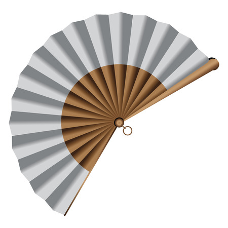 Classic version of folding fan. Imagens - 26407476