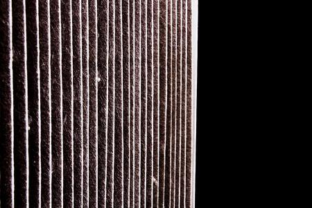 car repair shop: A dirty air filter car. Repair shop. Stock Photo