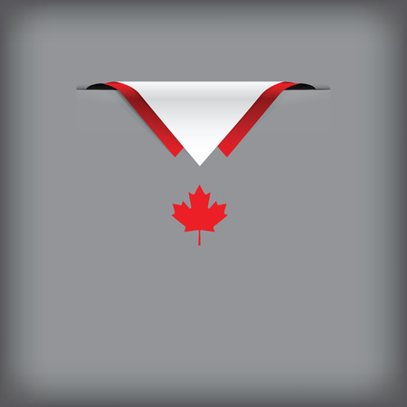 Canada's national colors in the creative execution.