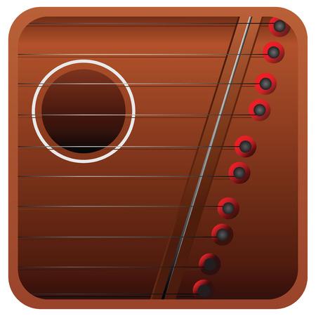 húros: Húros hangszer - mini hárfa.