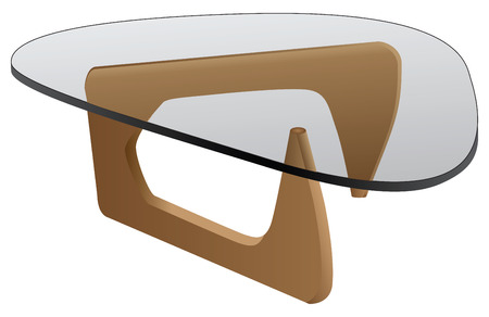 coffee table: Glass coffee table for home and office.