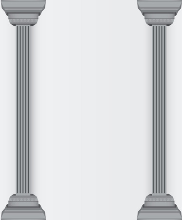 doric: Antique embossed column - a place for your text. Vector illustration. Illustration