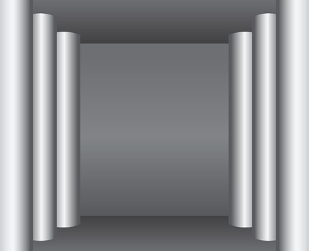 antiquity: Enfilade of columns - the architectural style of antiquity.