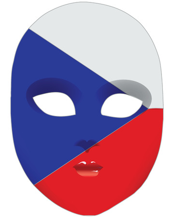 Classic mask with symbols of statehood of Czech Republic