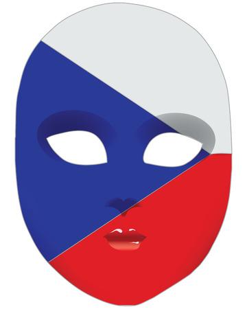 Classic mask with symbols of statehood of Czech Republic 版權商用圖片 - 26983013