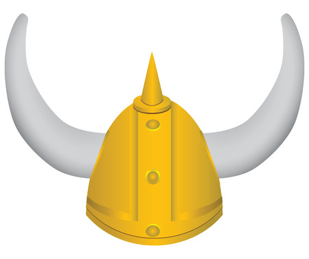 Medieval pointed helmet with horns