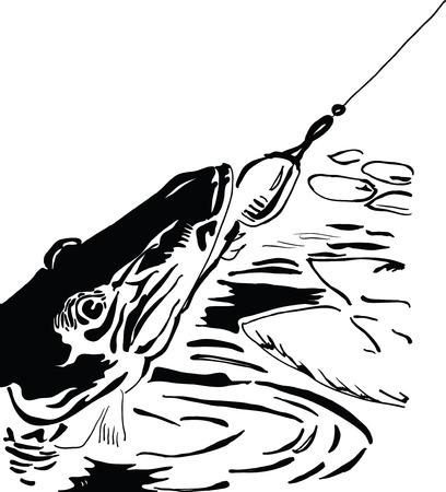 fishing lure: Pike fishing lure, sport fishing Illustration