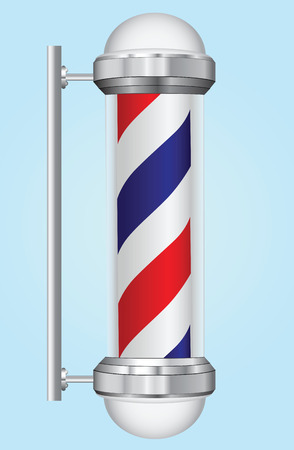 barber: Historic sign barber providing services shaving, haircuts, trade and health care.  Illustration