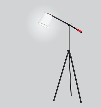 Floor lamp on a tripod as the interior equipment.