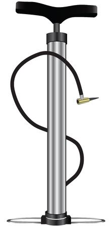 Floor pump for hand use. Vector illustration. Illustration