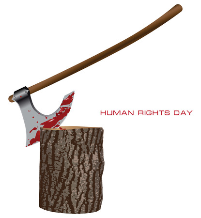 Creative on Human Rights Day. Vector illustration. Vector