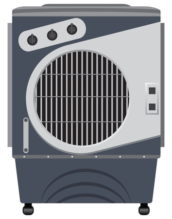 air conditioner: Portable evaporative air conditioner household.  Illustration