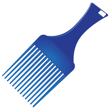 Ultra smooth hair comb made of plastic. Vector illustration.