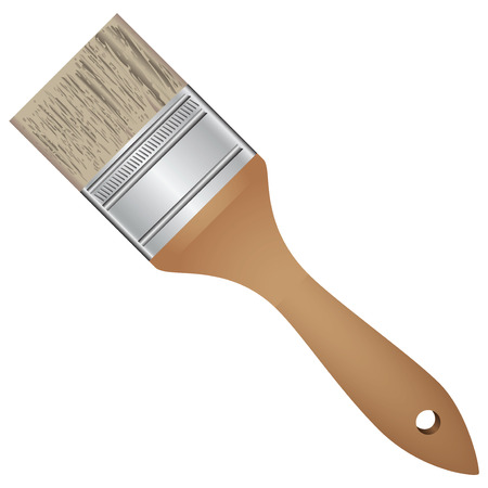 Wide brush for painting work. Vector illustration.