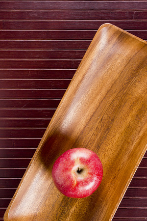 Background with apple and kitchen equipment. photo