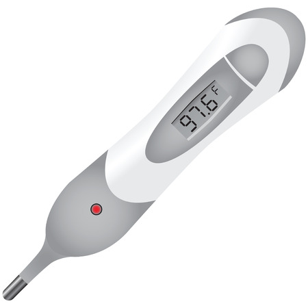 digital thermometer: High precision digital thermometer for medical use. Vector illustration. Illustration