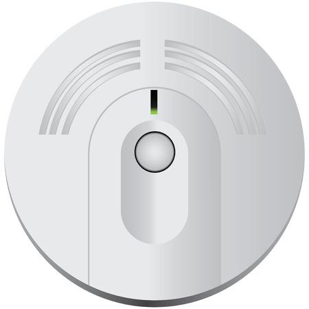 humo: Detector de humo para uso industrial y doméstico. Ilustración del vector.
