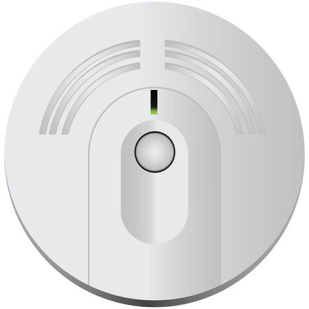 alarm: Smoke detector for industrial and domestic use. Vector illustration.