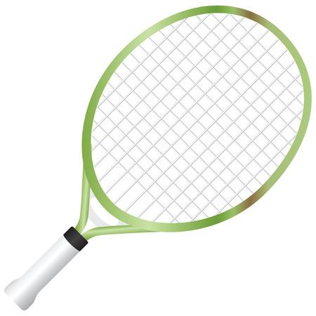 raquet: Junior racquet with a short handle. Vector illustration.