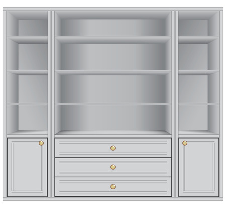 White Storage Cabinet office and household goods 向量圖像
