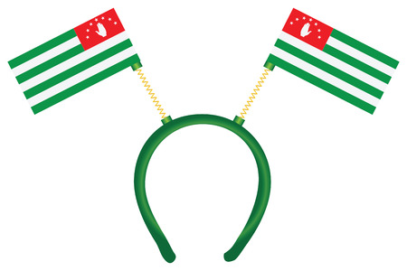 Headdress with a flag of Abkhazia for holiday. Vector drawing is made without a trace. 向量圖像
