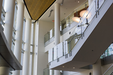 Foyer of an office building. Modern architecture.
