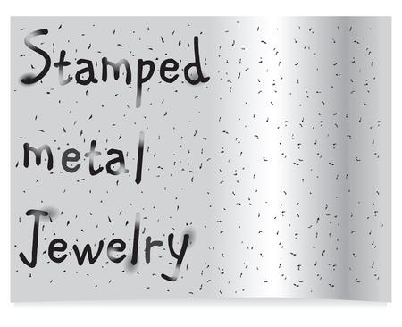 grille: Background stamped metal jewelry made %u200B%u200Bblanking tool.