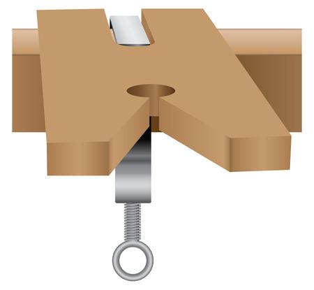File block and clamp made wood. Фото со стока - 27887316