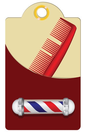 barbershop: Old style barber shop for a broken comb and a symbol of barber shop.