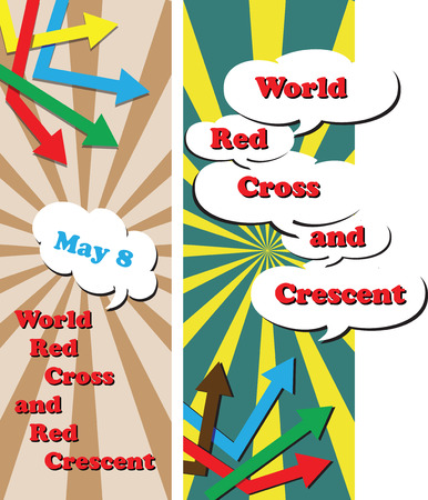 World Red Cross and Red Crescent.  Illustration