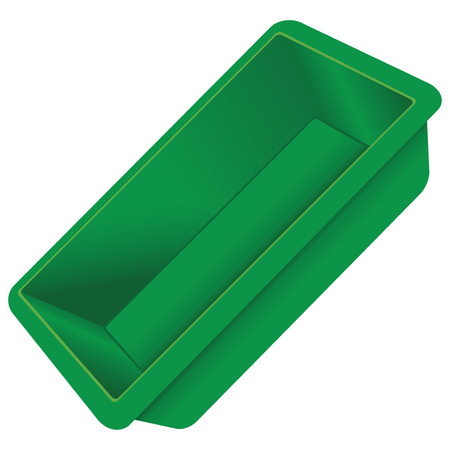 Culinary silicone container Vector drawing without trace.