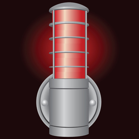 street lamp: Industrial signal light in a sealed enclosure. Vector drawing. Illustration