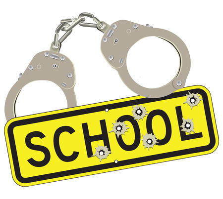Crimes committed in schools using weapons. Banco de Imagens - 28033420