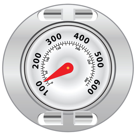gas barbecue: External thermometer for grilling. Illustration