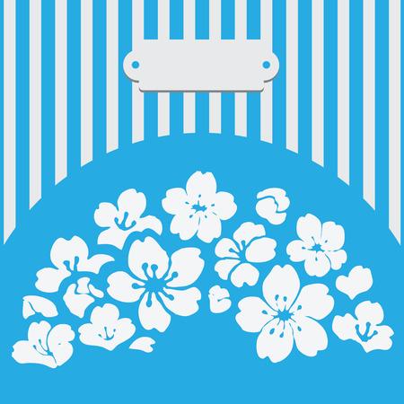 Wenskaart met bloemen voor elk evenement. Stock Illustratie