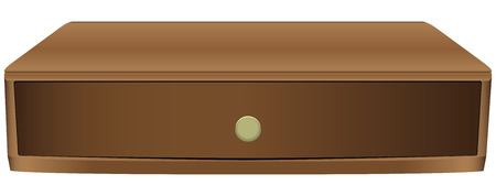 smaller: Narrow wooden drawer for smaller items.  Illustration
